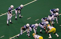 Manning and the Colts line up against the Green Bay Packers in 2004.