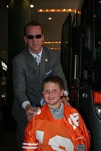 Manning with a fan in 2006
