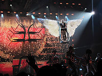 """Spears performing """"Till the World Ends"""" during the Femme Fatale Tour, 2011."""