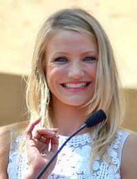 Diaz receiving her star on the Hollywood Walk of Fame in June 2009.
