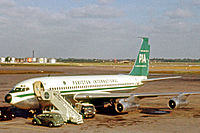 A Boeing 720 at Heathrow Airport on 24 June 1962.
