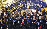France lifting the World Cup trophy