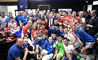 Croatia players after the 2018 World Cup Final against France