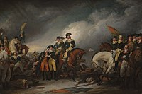 The Capture of the Hessians at Trenton, December 26, 1776, painting by John Trumbull