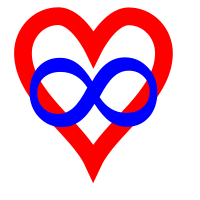The infinity heart is a widely used symbol of polyamory.