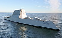 , a Zumwalt-class stealth guided missile destroyer