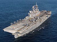 The amphibious assault ship, launched in 2012.