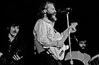 Helm, center, performing with the Band. Hamburg, 1971