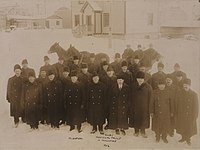Members of the Ontario Provincial Police in Timmins, 1913