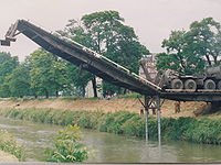 The French Engineering Arm laying a bridge
