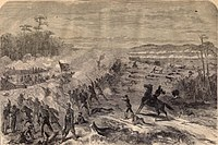 Col. Sylvester Hill was killed by Confederate artillery fire from Redoubt No. 2, just as his men overran Confederate Redoubt No. 3 on the Confederate left flank.