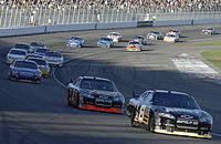 Mark Martin led the field for one lap.