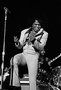 James Brown was critical in the transition of rhythm and blues to soul music and pioneering funk music.
