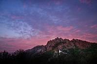 Mount Abu is a popular hill station in Rajasthan.