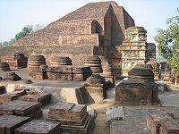Excavated ruins of Nalanda, a centre of Buddhist learning from 450 to 1193 CE.