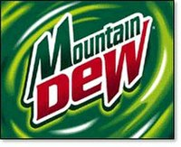 The fourth Mountain Dew logo used from 1999 to 2005