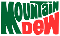 The Mountain Dew logo that was used from 1969 to 1996 was used on Mountain Dew Throwback when it was introduced in 2009 and was later used on special glass bottles of the drink