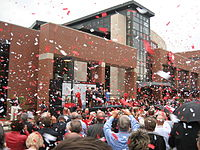 Letterman's association with Ball State University was recognized by a renaming ceremony for their David Letterman Communication and Media Building in 2006