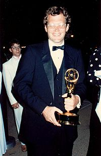 Letterman at the 38th Primetime Emmy Awards in 1986
