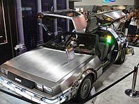 The DeLorean time machine on display in 2011