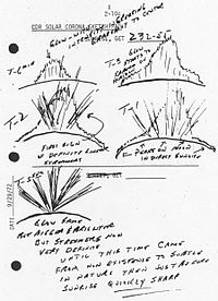 Sketch by the Apollo 17 astronauts. The lunar atmosphere was later studied by LADEE.