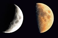 During the lunar phases, only portions of the Moon can be observed from Earth.