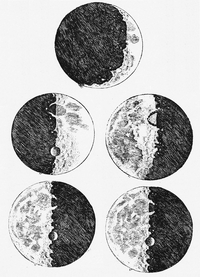 Galileo's sketches of the Moon from Sidereus Nuncius