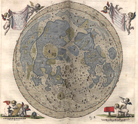 Map of the Moon by Johannes Hevelius from his Selenographia (1647), the first map to include the libration zones