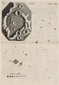 A study of the Moon in Robert Hooke's Micrographia, 1665