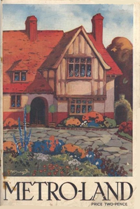 The cover of the Metro-Land guide published in 1921
