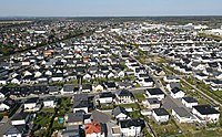 A suburban neighborhood in the metropolitan area of Cologne, Germany