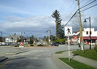 A typical low-density Canadian suburban scene in Langley, British Columbia.