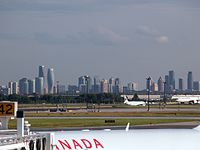 Higher-density development in Mississauga as seen from Toronto's Pearson Airport