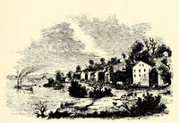 Kansas City in 1843, as depicted in a history of Oregon.