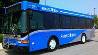 A newly branded RideKC Bus.