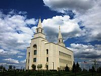 The Latter-Day Saints Temple in Kansas City.