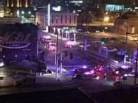 Police respond to a shooting in the Crossroads area during the early hours of New Years Day 2016.