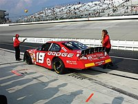 Casey Atwood in the No. 19 at Dover International Speedway in 2001