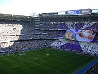 View of the stadium during the 2006–07 La Liga, Madrid derby