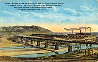 Railway Bridges and the Great Customs Smelter (postcard, circa 1916)
