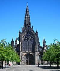 Glasgow Cathedral marks the site where Saint Mungo built his church and established Glasgow.