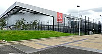 Emirates Arena in Glasgow, one of the designated stadiums constructed for the 2014 Commonwealth Games