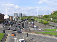 The M8, which crosses the Clyde over the Kingston Bridge, is Scotland's busiest motorway.