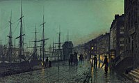 Shipping on the Clyde, Atkinson Grimshaw, 1881