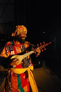 A Baul musician. The Baul ballads of Bengal are classified by UNESCO as humanity's intangible cultural heritage
