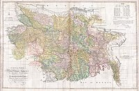 Bengal & Bihar in 1776 by James Rennell