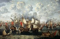 The Battle of the Sound between an allied Dano-Norwegian–Dutch fleet and the Swedish navy, 8 November 1658 (29 October OS)