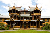 Dalen Hotel in Telemark built in Dragon Style, a style of design architecture that originated during the Norwegian romantic nationalism.