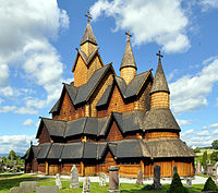 The Heddal Stave Church in Notodden, the largest stave church in Norway