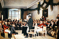 The 1814 constitutional assembly, painted by Oscar Wergeland.